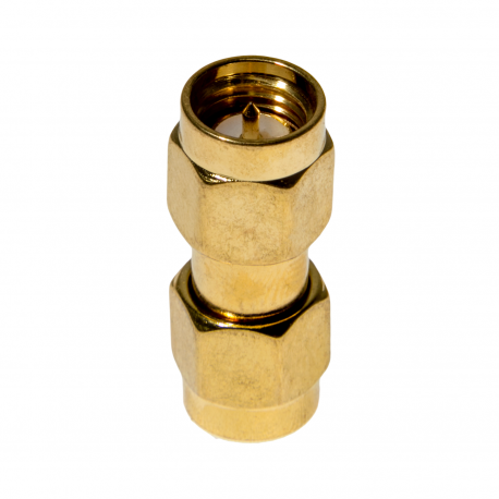 Male SMA to Male SMA Adapter (Barrel Connector)