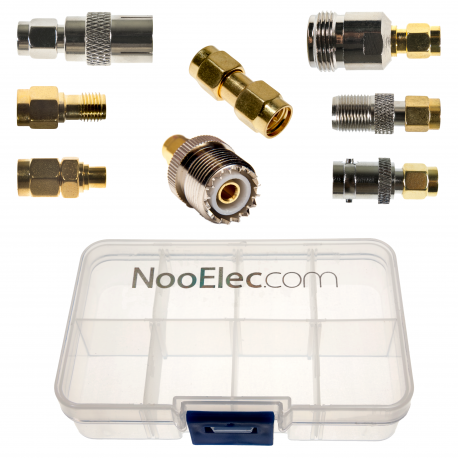 NooElec SMA Adapter Connectivity Kit - Set of 8 RF Adapters for SMA-Input SDRs w/ Portable Carrying Case