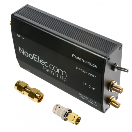 Ham It Up Plus - HF Upconverter w/ Black Enclosure, TCXO, ULF Support & Noise Source