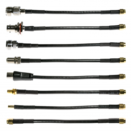 NooElec SMA Cable Connectivity Kit - Set of 8 RF cables for SMA-Input SDRs