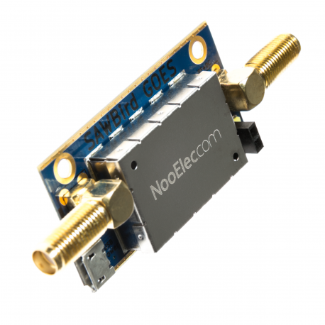 Nooelec SAWbird GOES Barebones - Premium Dual Ultra-Low Noise Amplifier (LNA) & SAW Filter Module for NOAA (GOES/LRIT/HRIT) Applications. 1688MHz Center Frequency