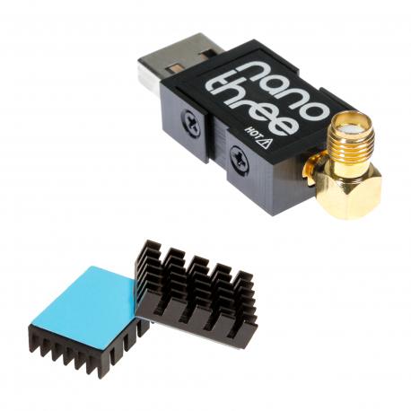 NooElec NESDR Nano 3: Tiny RTL-SDR USB Set w/ 0.5PPM TCXO, SMA Input, Aluminum Enclosure and Custom Heatsink