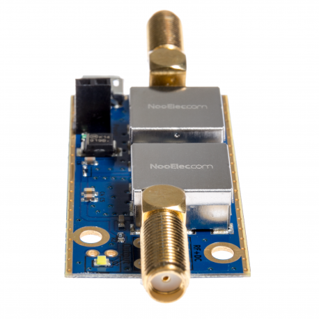 Nooelec SAWbird+ IR Barebones - Premium SAW Filter & Cascaded Ultra-Low Noise LNA Module for Iridium and Inmarsat Applications. 1620MHz Center Frequency.
