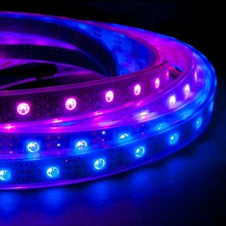 1m Addressable 24-Bit RGB LED Strip, IP68 Waterproof, WS2812B (WS2811), 60 Pixels per Meter