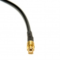 Male MCX to Male SMA pigtail cable, RG-316, 0.5' length