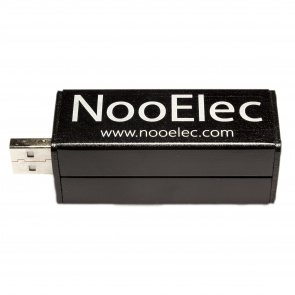 NooElec NESDR Mini+ Al - 0.5PPM TCXO USB RTL-SDR Receiver (RTL2832 + R820T) w/ Antenna and Remote Control, Installed in Aluminum Enclosure