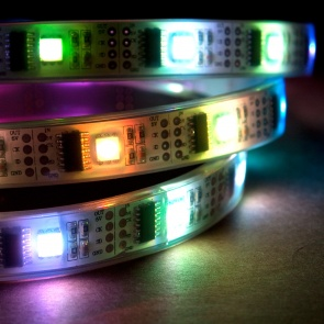 1m Addressable 24-Bit RGB LED Strip, Waterproof, WS2801, 32 Pixels per Meter