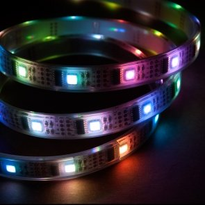 5m Addressable 24-Bit RGB LED Strip, Waterproof, WS2801, 32 Pixels per Meter
