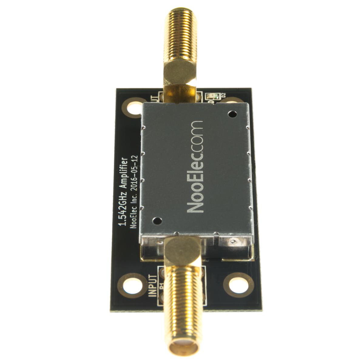 Nooelec SAWbird iO Barebones - Premium Dual Ultra-Low Noise Amplifier (LNA)  & SAW Filter Module for L-Band (Inmarsat AERO/STD-C) Applications  1542MHz
