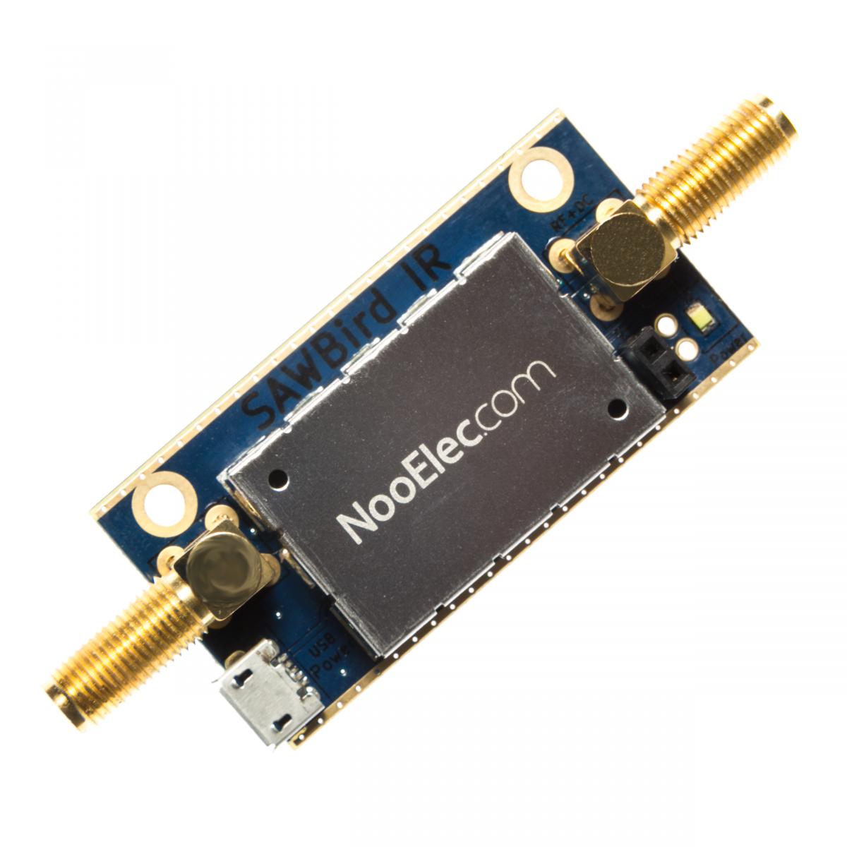 Nooelec SAWbird IR Barebones - Premium Dual Ultra-Low Noise Amplifier (LNA)  & SAW Filter Module for Iridium and Inmarsat Applications  1620MHz Center