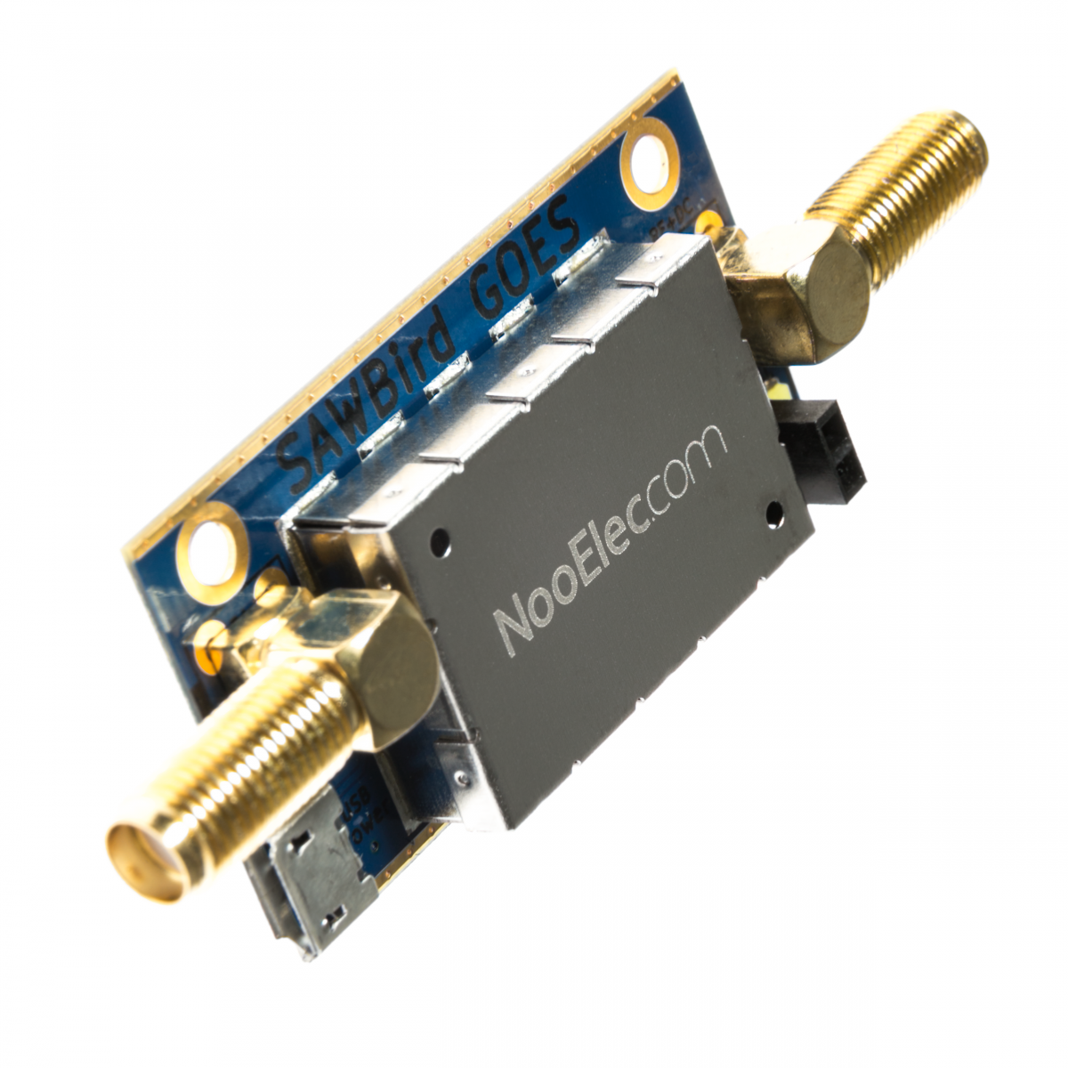 Nooelec SAWbird GOES Barebones - Premium Dual Ultra-Low Noise Amplifier  (LNA) & SAW Filter Module for NOAA (GOES/LRIT/HRIT) Applications  1688MHz