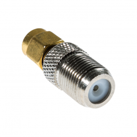 Male SMA to Female F-Connector Adapter