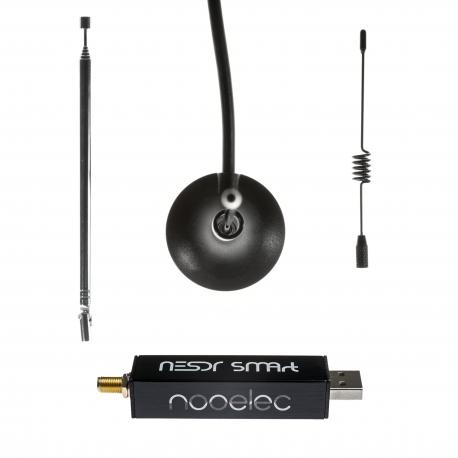 Nooelec NESDR SMArt v4 Bundle - Premium RTL-SDR w/ Aluminum Enclosure, 0.5PPM TCXO, SMA Input & 3 Antennas. RTL2832U & R820T2-Based