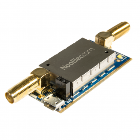 Nooelec SAWbird+ NOAA Barebones - Premium SAW Filter & Cascaded Ultra-Low Noise LNA Module for NOAA Applications. 137MHz Center Frequency
