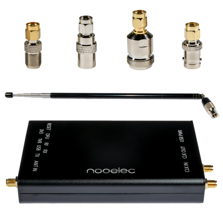 Nooelec HackRF Complete Bundle - HackRF One SDR w/ 0.5PPM TCXO installed in a Black Aluminum Enclosure