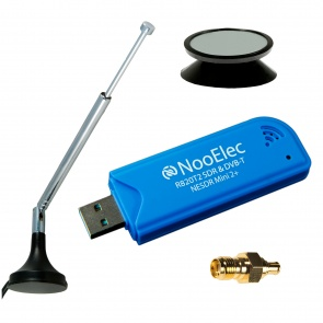 NooElec NESDR Mini 2+ 0.5PPM TCXO USB RTL-SDR Receiver (RTL2832 + R820T2) w/ Antenna and Remote Control