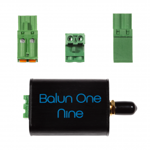 Balun One Nine v2 - Small Low-Cost 9:1 HF Antenna Balun/Unun with Aluminum Enclosure & Multiple Connection Options