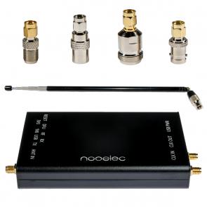 Nooelec HackRF Complete Bundle - HackRF One SDR w/ 0.5PPM TCXO installed in a Black Aluminum Enclosure