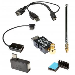 Nooelec NESDR Nano 3 USB-C OTG Bundle - Tiny RTL-SDR USB On-The-Go Bundle for USB-C Devices