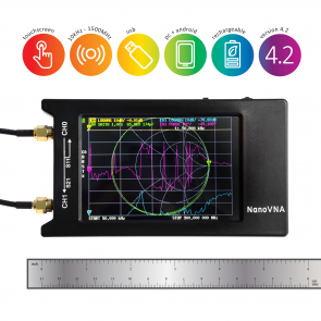 "NanoVNA-H 4: 10kHz-1500MHz+ Portable Vector Network Analyzer w/ 4"" LCD Screen & SOLT Calibration Kit"