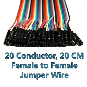 Female to Female Jumper Wire Harness, 40-Pack, 20cm