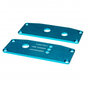 Ham It Up - Extruded Aluminum Enclosure Kit for Ham It Up v1.3+, Retrofit - End Panels Only!