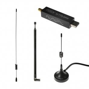 Nooelec NESDR SMArTee v2 Bundle - Premium RTL-SDR w/ Aluminum Enclosure, Bias Tee, 0.5PPM TCXO, SMA Input & 3 Antennas. RTL2832U & R820T2-Based