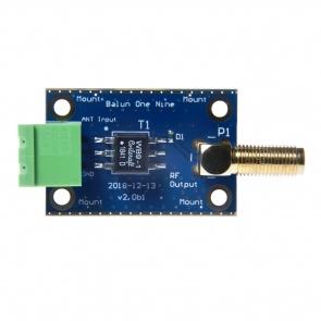 Balun One Nine v2 Barebones - Small Low-Cost 9:1 HF Antenna Balun/Unun with Multiple Connection Options