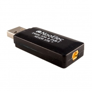 Nooelec NESDR XTR+ Tiny Extended-Range TCXO-Based SDR & DVB-T USB Stick (RTL2832U + E4000) w/ Antenna and Remote Control